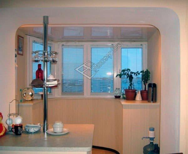 Расширяем кухню за счет балкона