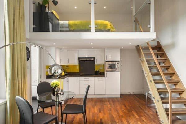 Однокомнатная квартира с высокими потолками