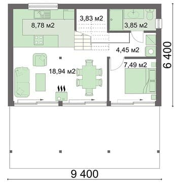 Дом 6х10