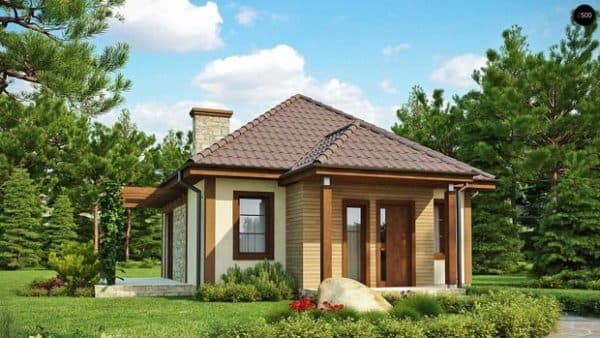 Одноэтажный небольшой дом