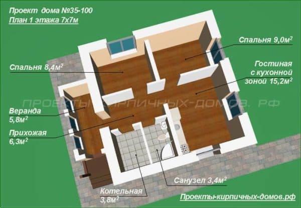 План маленького дома