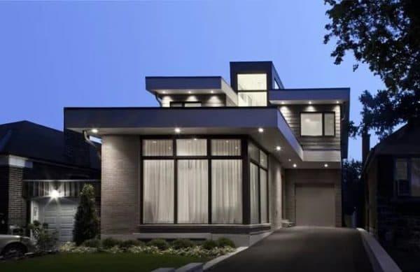 внешняя отделка дома в стиле хай-тек