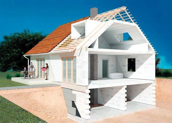 Дом из газобетона