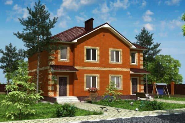 Кирпичный дом на две семьи