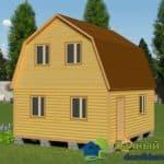 Двухэтажный дачный дом 6 на 6
