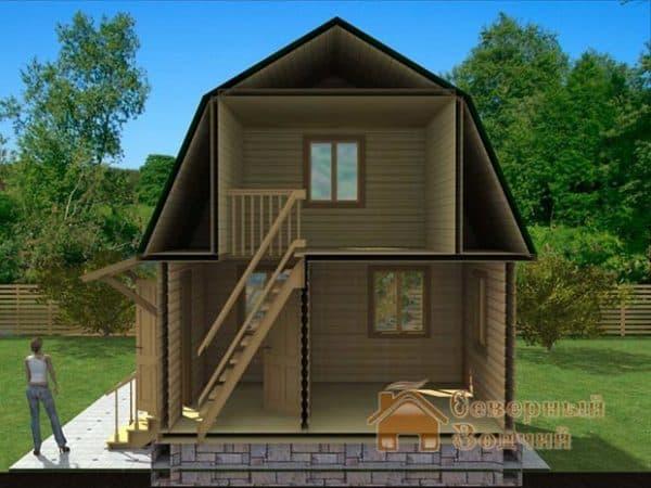 Двухэтажный дом 5 на 5