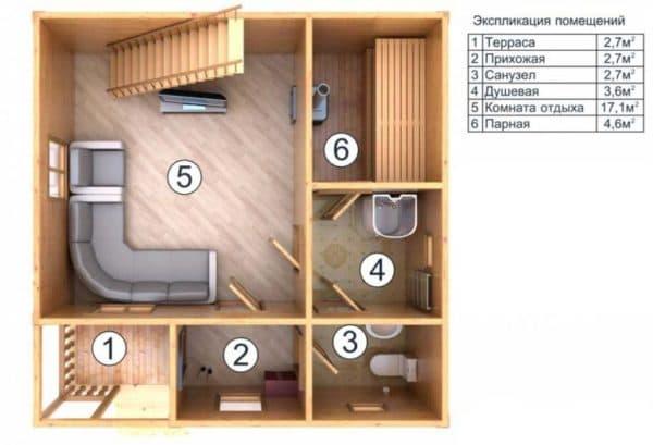 Внутренняя планировка первого этажа