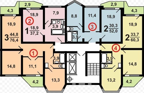 Типовые планировки п 44т