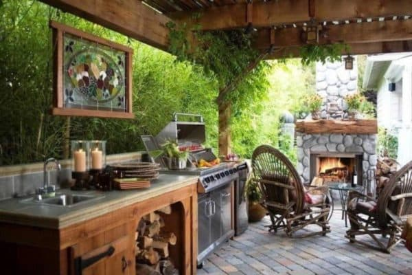 Открытая летняя кухня