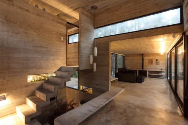 Комбинированный дом внутри