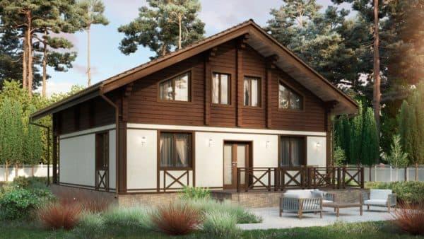 Комбинированный недорогой дом