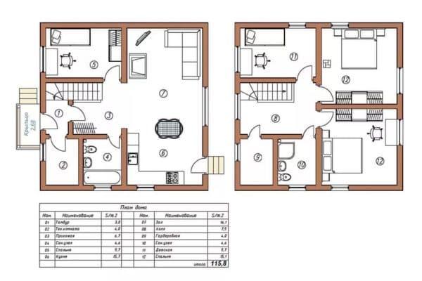 Планировка комбинированного дома