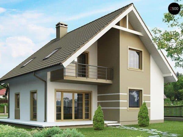 Одноэтажный дом 10х10 с мансардой