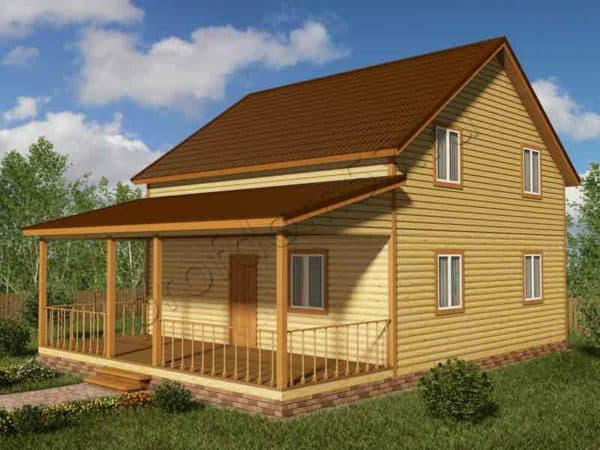 Дом 11х11 из бруса