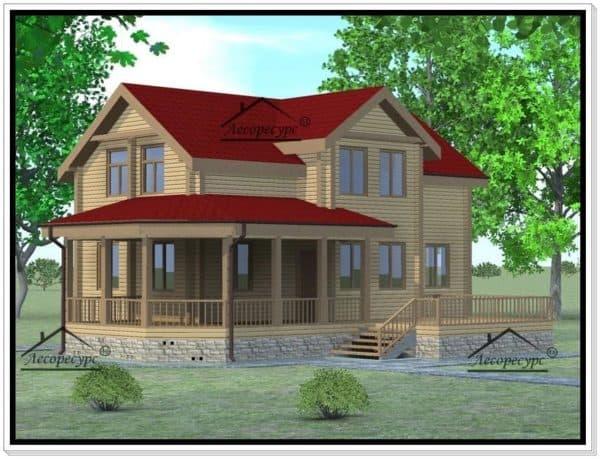 Двухэтажный дом 11 на 11