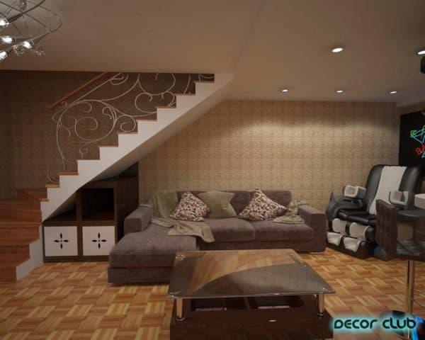 Вариант функционального использования цокольного этажа
