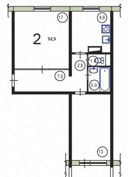 Квартира в доме серии п-30 (Распашонка)