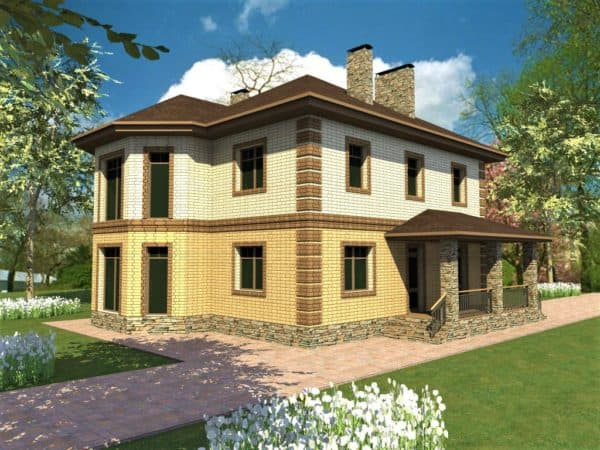 Двухэтажный дом 13 на 13