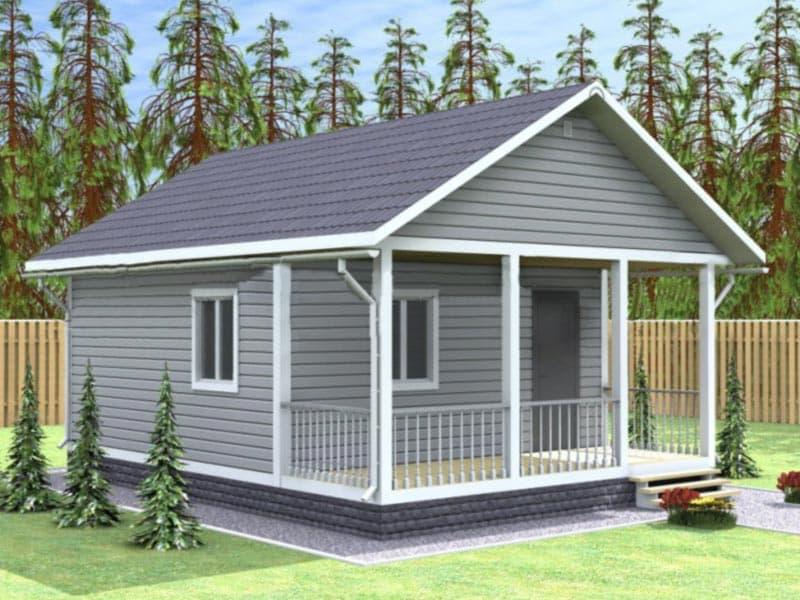 Одноэтажный дом 6 на 8