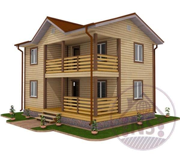 Дом 6 на 8 с террасой
