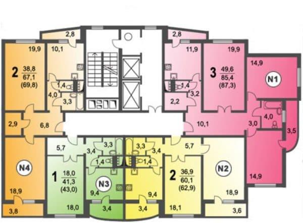 Планировка квартир серии п-3мк