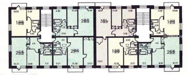Планировка квартир дома