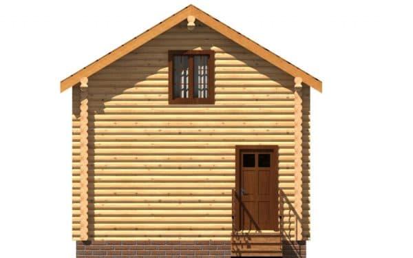 Дачный дом 4 на 4 двухэтажный