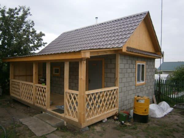 Дачный дом 4 на 4 из кирпича