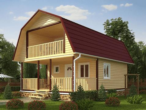 Дачный дом с верандой