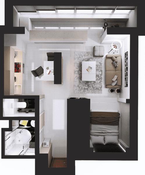 Планировка квартиры 35 кв. м_4
