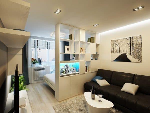 Организация пространства спальни-гостиной
