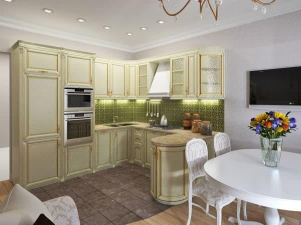 отделка пола кухни-гостиной