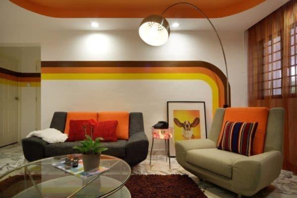 Гостиная в стиле минимализм_3