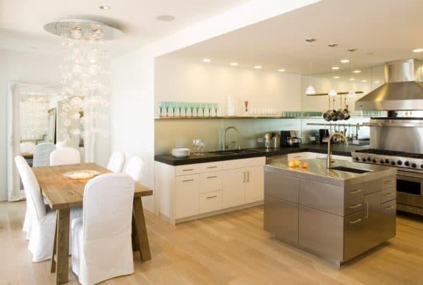 освещение для кухни-гостиной 12-13 кв. м