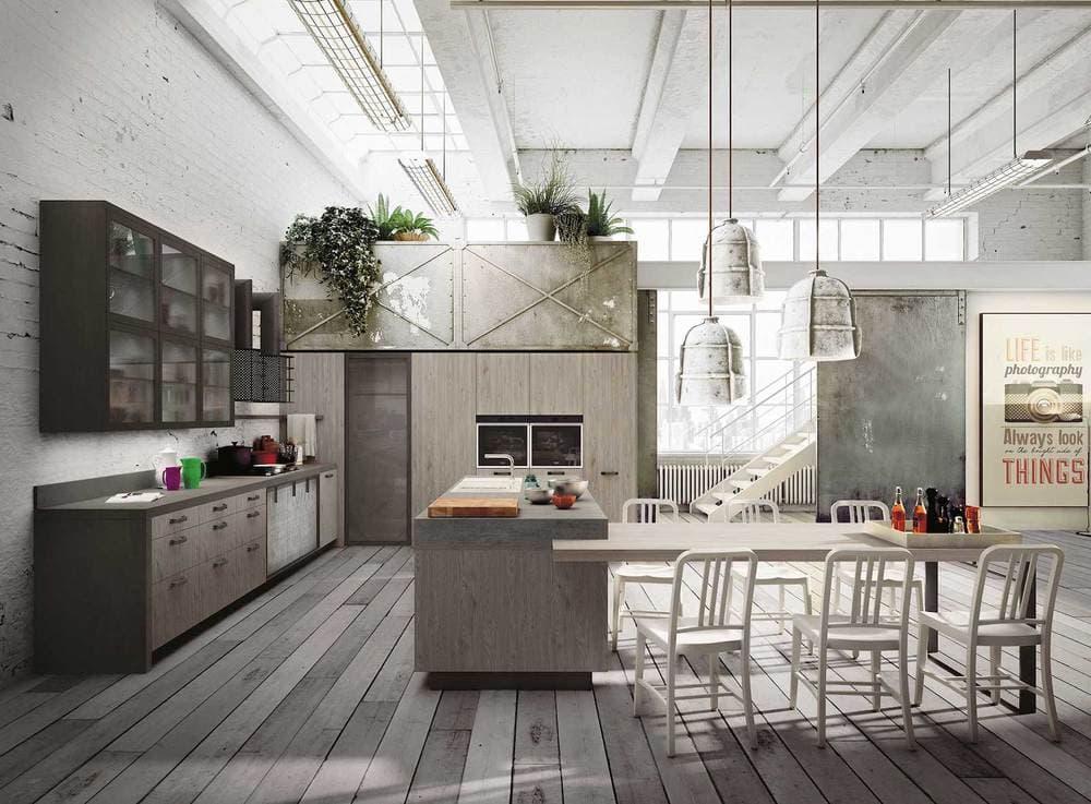 Кухни лофт Модерн