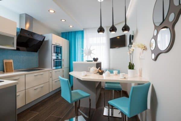 Яркие элементы в интерьере кухни