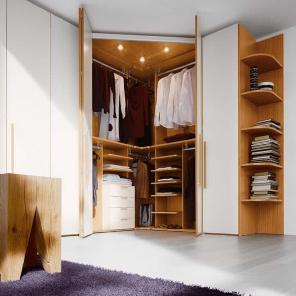 Угловая гардеробная в спальне_1