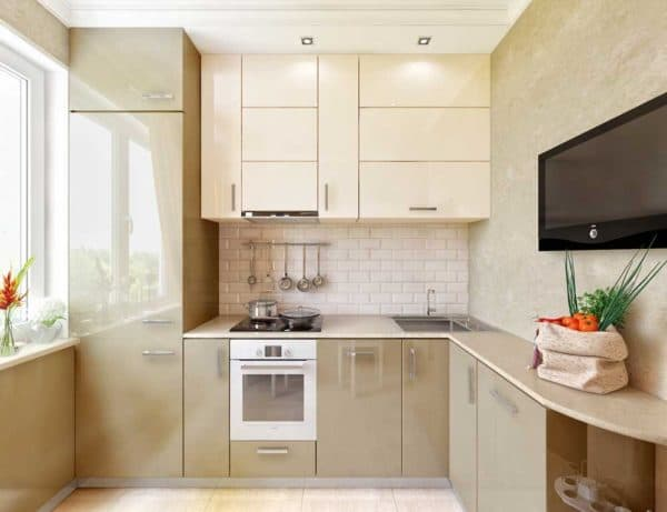 Мебель на маленькой кухне_1