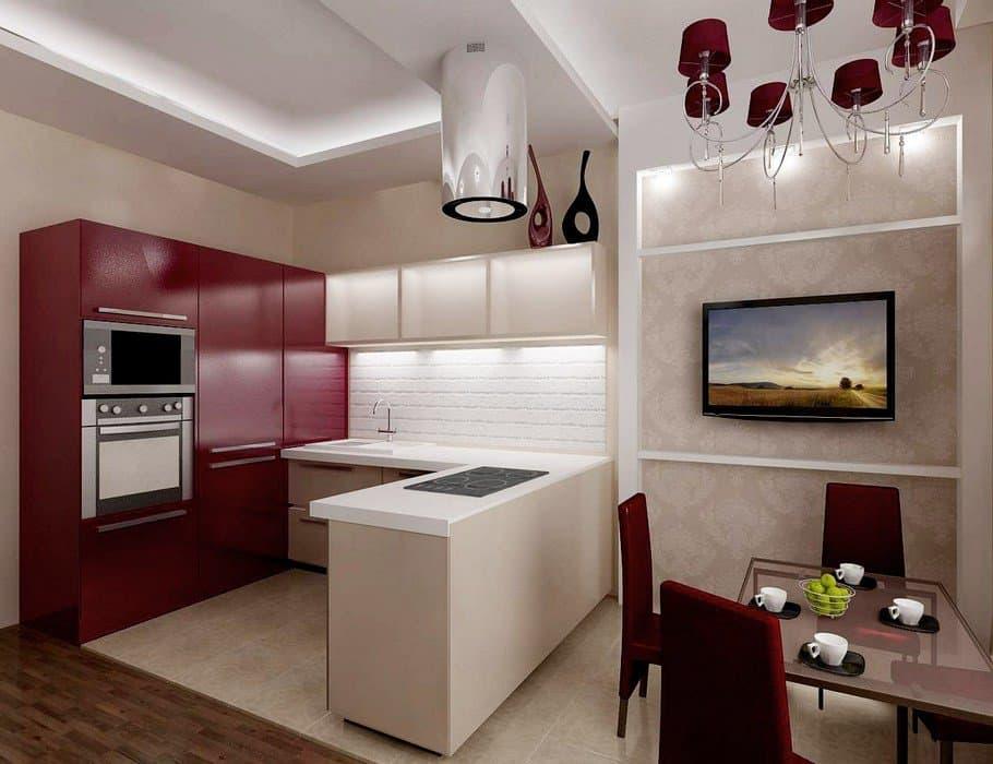 Расстановка и дизайн интерьера кухни