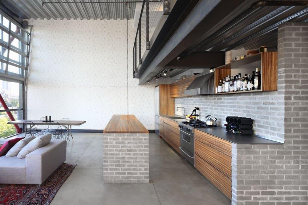 Кухни в стиле лофт и Модерн