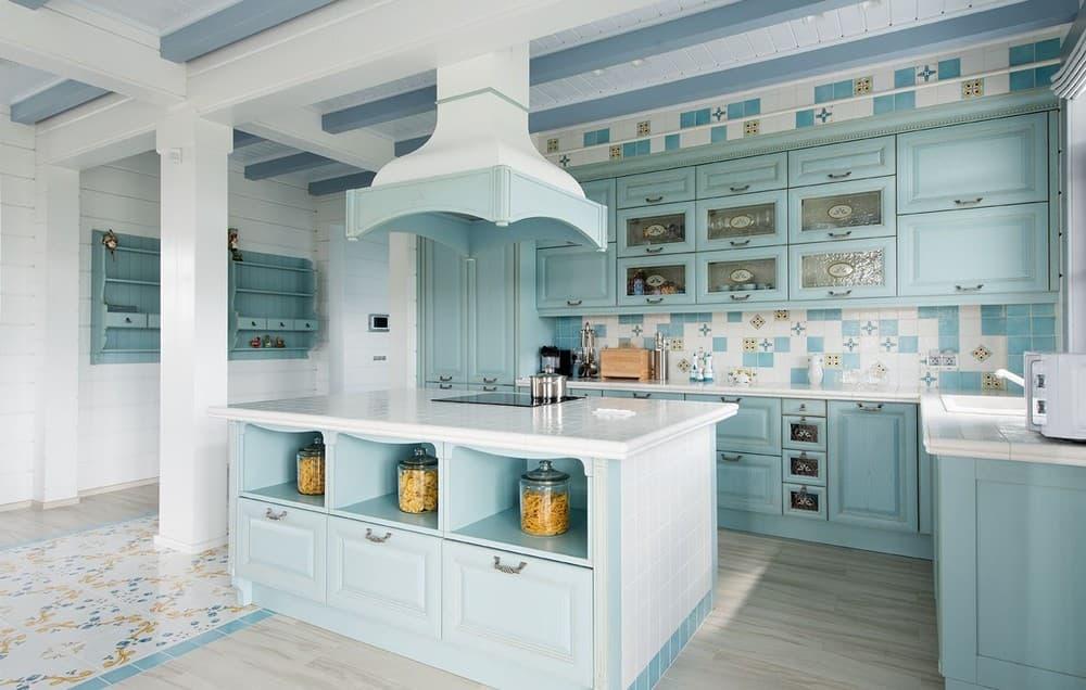 Фартук для кухни в средиземноморском стиле
