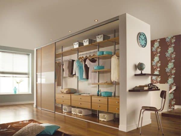 Проект гардеробной в спальне_2