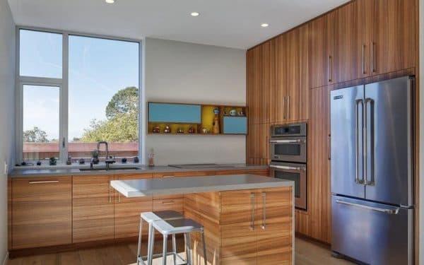Планировка кухни-острова в стиле модерн