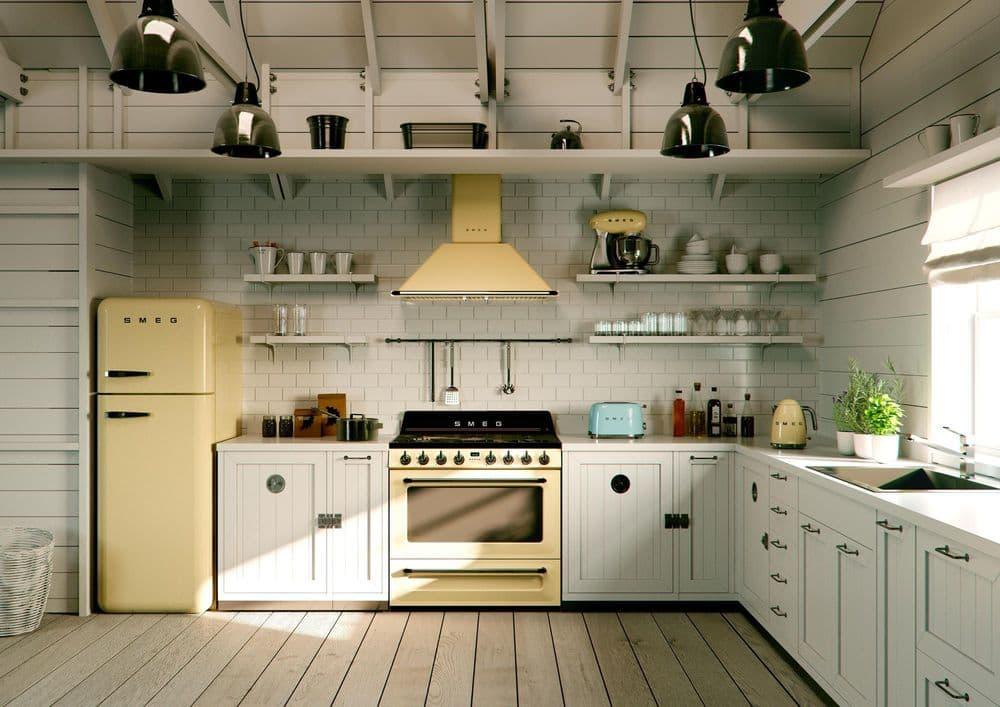Кухня стиле ретро
