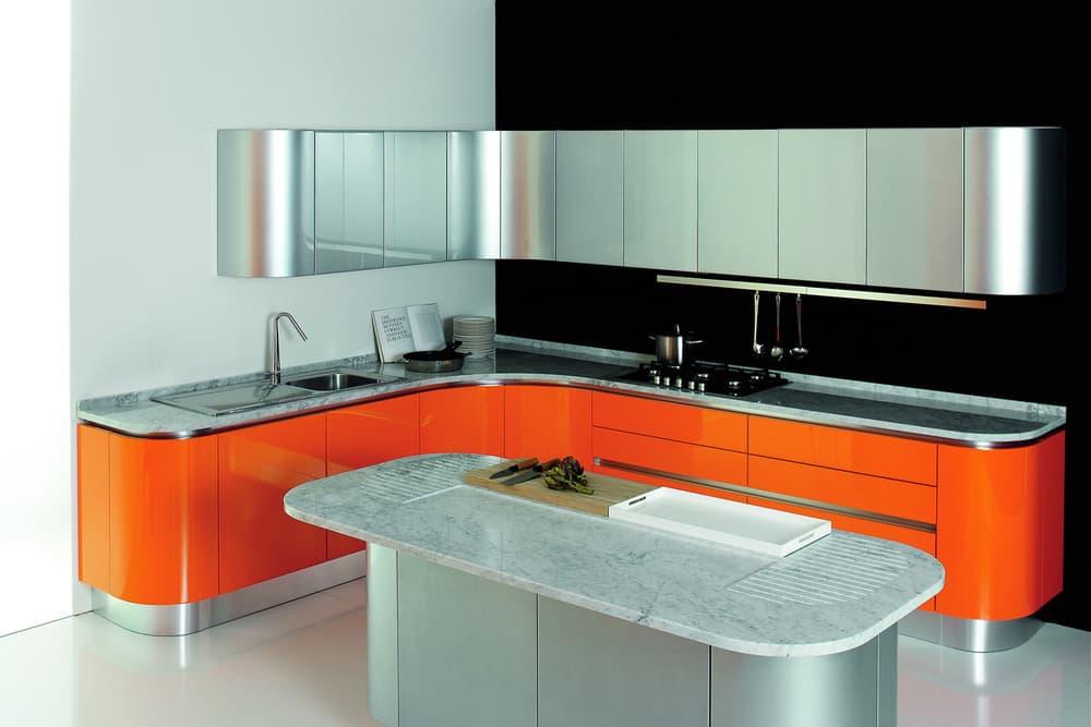 Кухня с осторовом в стиле Модерн