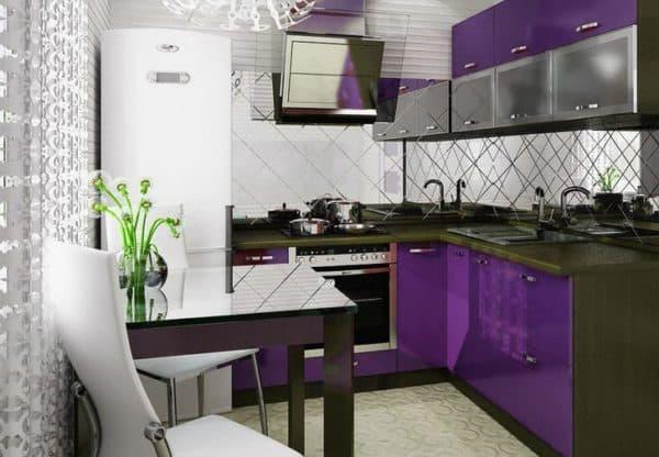 Размещение гарнитура на кухне_1