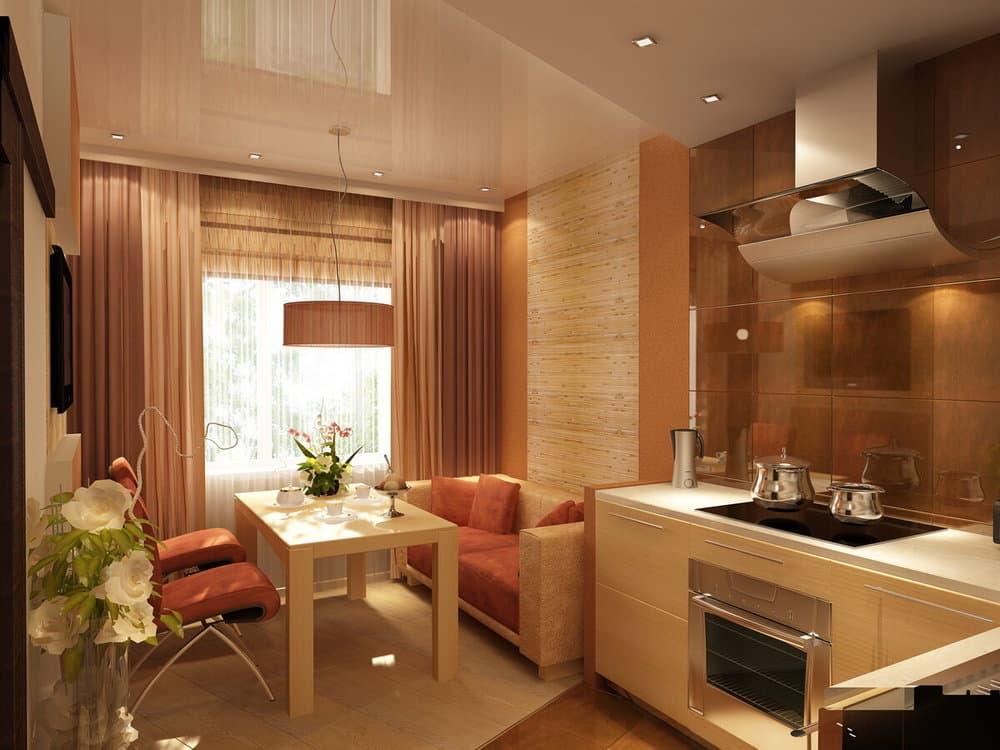 Зонирование кухонной комнаты