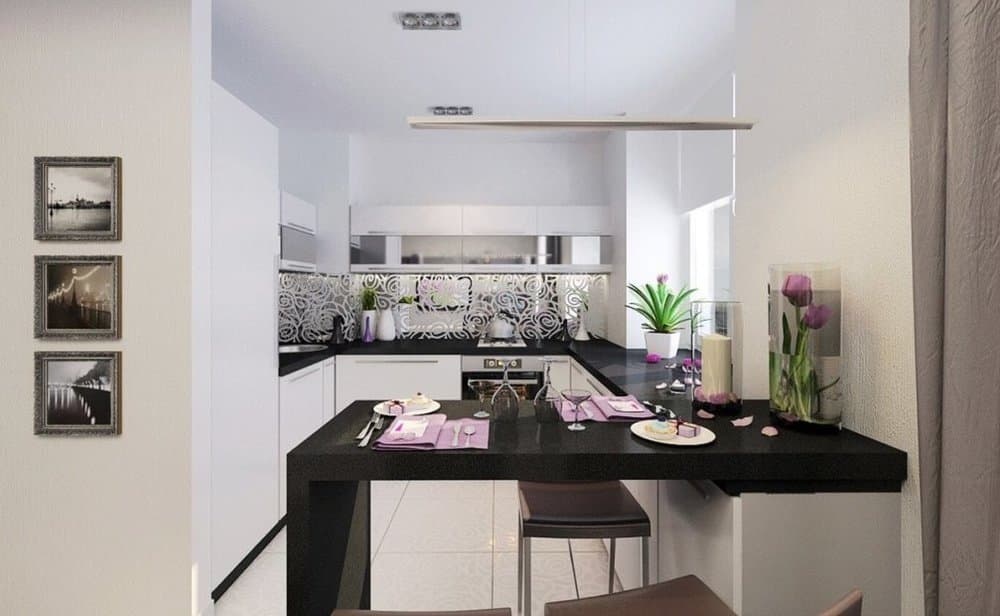Кухня, совмещенная с комнатой