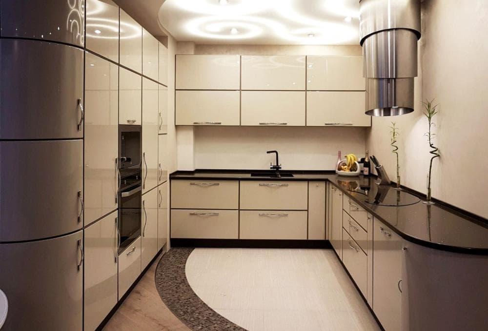 Кухня в дизайне хай-тек