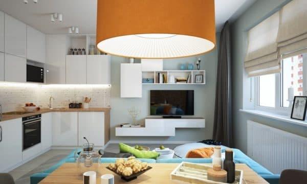 Фото кухни-гостиной 16 кв. м